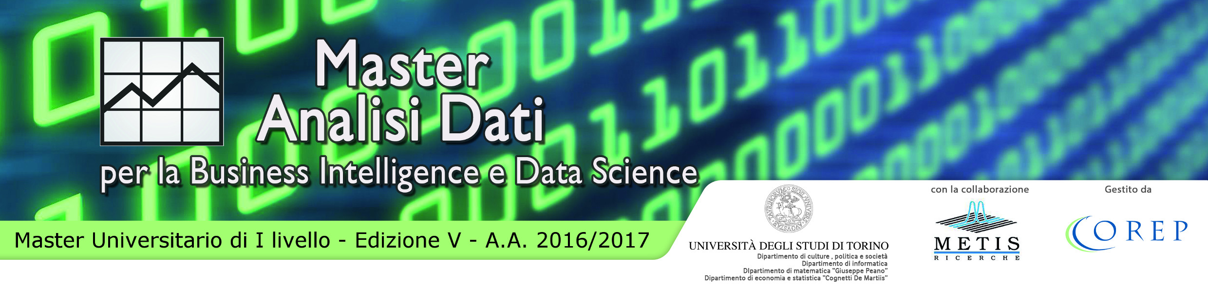 "Bunner Master in ""Analisi dati per la Business Intelligence Data Science"""